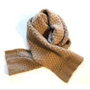 Cashmere Knit Scarf in Taupe Beige